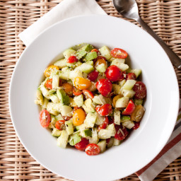 Tomato, Cucumber and Avocado Salad