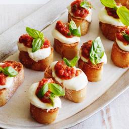 Tomato, Mozzarella and Basil Bruschetta