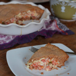 Tomato Pie (with corn and a whole-wheat crust)