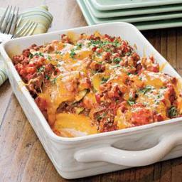 Tomato 'n' Beef Casserole With Polenta Crust
