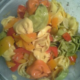 Cheese Tortellini And Peppers