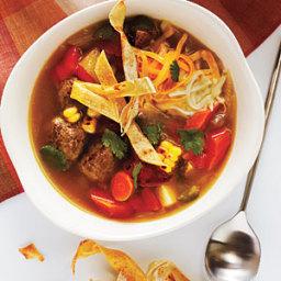 Tortilla Meatball Soup