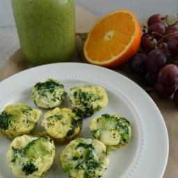 Tortitas de huevo con espinaca, berza y brócoli