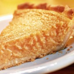 Traditional Brown Sugar Chess Pie with Cornmeal