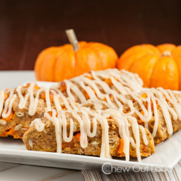 Triple Pumpkin Scones with Cream Cheese Icing