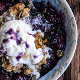 Triple Berry Kahlua Crisp with Double the Crumble.