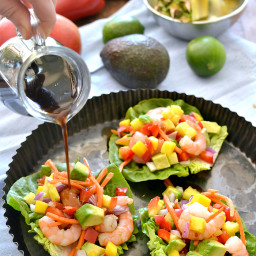 Tropical Shrimp Lettuce Wraps