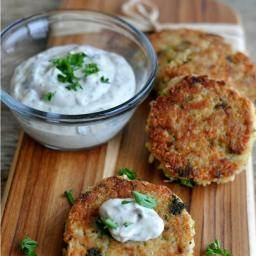 Tuna and Broccoli Quinoa Patties with Lemon Caper Sauce