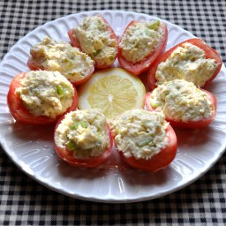 Tuna Salad in Roma Tomato Boats