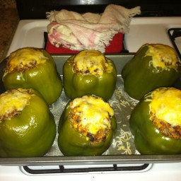 Turkey and Quinoa Mexican Stuffed Peppers