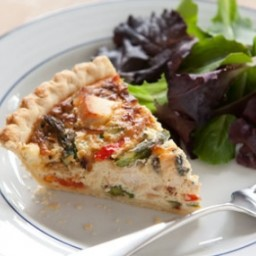 Turkey and Roasted Vegetable Quiche