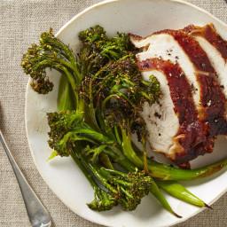 Turkey Breast with Roasted Broccolini