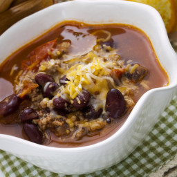 Turkey Chili Soup with Hominy