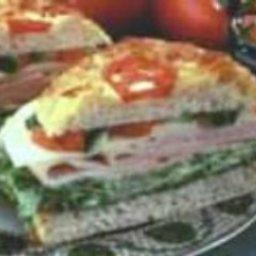 Turkey Focaccia Sandwich with Basil Salsa