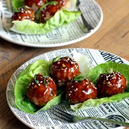 Turkey Meatballs with Hoisin Glaze