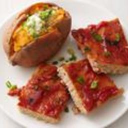 Turkey Meatloaf Squares with Sweet Potatoes