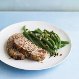 Turkey Meatloaf with Fontina and Mushrooms