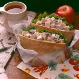 Turkey Salad in Sesame Pitas