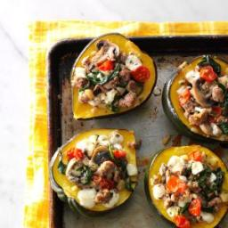Turkey Sausage-Stuffed Acorn Squash Recipe