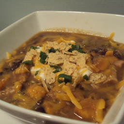 Turkey, Sweet Potato and Black Bean Soup
