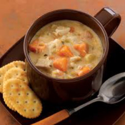 Healthy Turkey & Sweet Potato Chowder