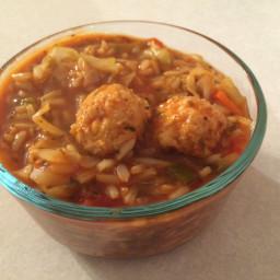 Turkey Tomato Meatball Soup