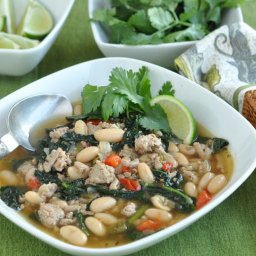 Turkey Chili with Kale and White Beans