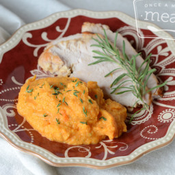 Turkey with Cauliflower Carrot Herb Mash