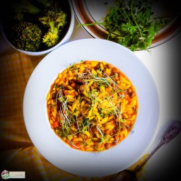 Turmeric Lentils and Orzo Soup
