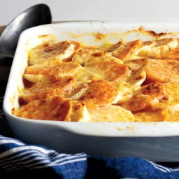 Turnip and Sweet Potato Gratin