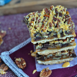 Turtle Pecan Pie Bars