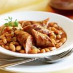 Tuscan Braised Cannellini Beans with Grilled Sausages