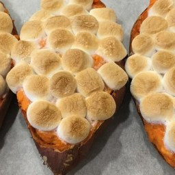 Twice-Baked Sweet Potatoes with Browned Butter a