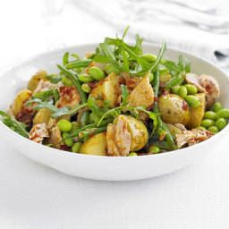Two bean, potato and tuna salad