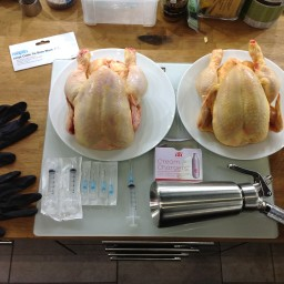 Two Ways Injected Slow-Cooked Chicken