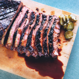 Braised Brisket with Bourbon Peach Glaze