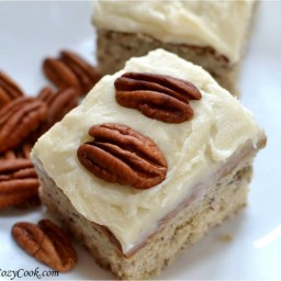 Roasted Banana Bars with Browned Butter-Pecan Frosting