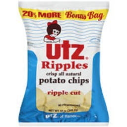 Utz Ripple Cut Potato Chips, 10.5 oz