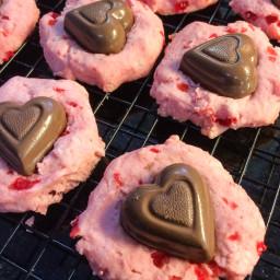 Valentine Cherry Kisses Cookies