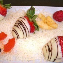 Vanilla and Chocolate Covered Strawberries