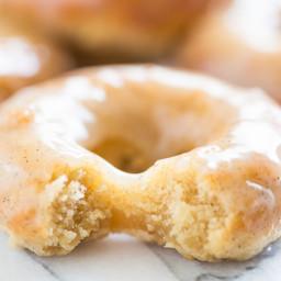 Vanilla Bean Glazed Honey Cake Doughnuts