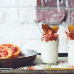 Vanilla Cashew Creme with Caramelized Banana and Roasted Grapefruit