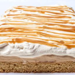 Vanilla–Salted Caramel Ice Cream Cake with Whipped Cream