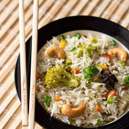 veg pulao - asian style