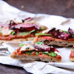 Vegan and gluten free Buckwheat Pizza Crust