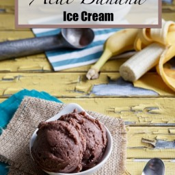 Vegan and Paleo Acai Banana Ice Cream