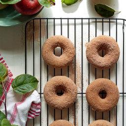 Vegan Apple Cider Baked Doughnuts