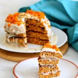 Vegan Carrot Cake Pancakes