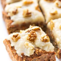 Vegan Carrot Cake Quinoa Breakfast Bars