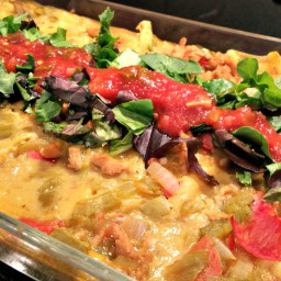 Vegan Green Chile Chicken Enchiladas